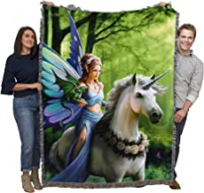 Fantasy - Realm of Enchantment by Anne Stokes - FAE Fairies Collection - Blanket Throw Woven from Cotton - Made in The USA...