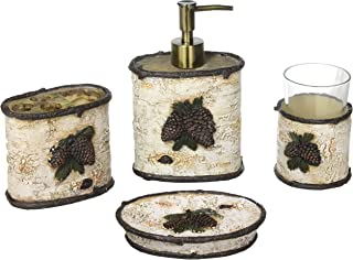 4 Piece Pinecone & Birch Bath Set