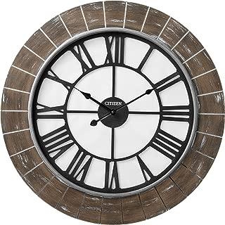 Citizen Clocks Citizen CC2046 Gallery Wall Clock, Brown