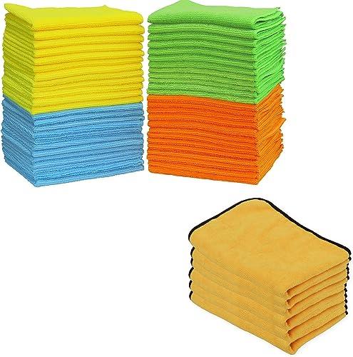 lowest SimpleHouseware Microfiber online Cleaning lowest Cloth 50PK + Premium Microfiber Towel 6PK online sale