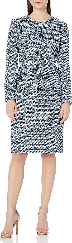 Le Suit Women's Plus Dealing full price reduction Size 4 Zipper Jewel Neck Chevron Button Poc Ranking TOP16