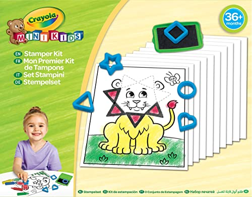 Crayola - Mon 1er Kit de tampons-refrech - Loisir créatif - Mini Kids - à partir de 2 ans - Jeu de création - coloria...