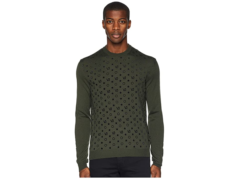 Versace Jeans Couture Patterned Sweater (Thyme) Men