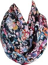 Etwoa's Cartoon Infinity scarf, Anime Print Scarf, Colorful Funny Geek scarf