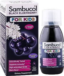 Sambucol Black Elderberry for Kids, 4 Ounce Bottle, High Antioxidant Black Elderberry Extract Syrup for Immune Support, Children's Formula