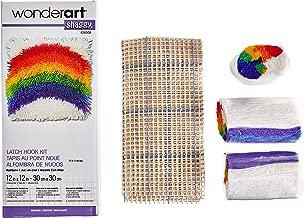 Wonderart Shaggy Rainbow Latch Hook Kit, 12
