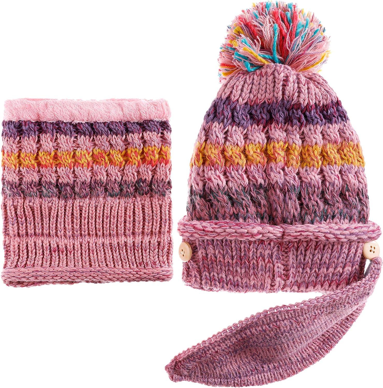 Dosoni Women Girl Winter Hats Charlotte Mall Knit L Cozy Warm Soft Ranking TOP2 Earflap Hood