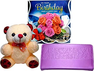 Birthday Gifts for Girls - Women's Wallet ,Birthday Greting Card, Soft Toy