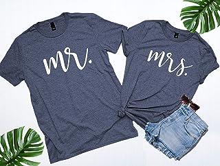 Mr and Mrs, Mr and Mrs shirts, Honeymoon Shirts, Mrs and Mr, Mr and Mrs Shirts, Newlywed Shirts, Just Married, Wedding Shirts. NEW