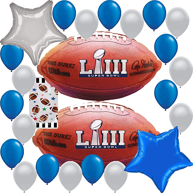 Super Bowl Party Supplies 2019 Superbowl 53 Decoration : Team NFL Football Sports HUGE Balloon Decorations Bundle