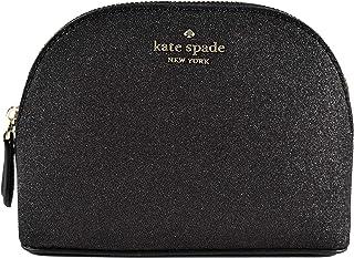 Small Joeley Glitter Dome Cosmetic Make-Up Travel Bag (Lola Black)