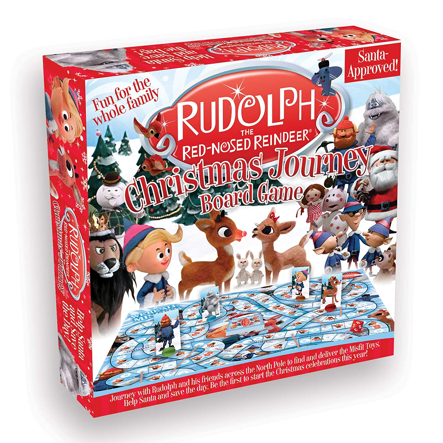 Image of Family Fun Rudolph The Red Nosed Reindeer Christmas Journey Board Game