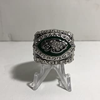 2004 Donovan McNabb Philadelphia Eagles High Quality Replica 2004 NFC Championship Ring Size 9-Silver Colored