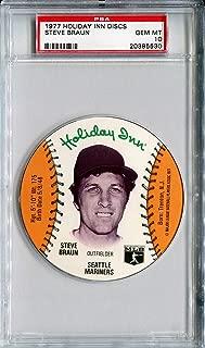 1977 MSA Holiday Inn Sports Discs STEVE BRAUN Rare PSA Gem Mint 10 SP Seattle Mariners / Minnesota Twins