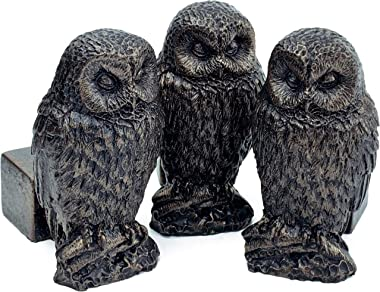 Plant Risers for Pots. Decorative Feet for Planters. Use Indoor and Outdoor to Improve Airflow and Drainage. Hand Painted Owl Set of 3