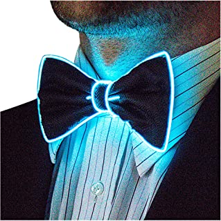 Light Up Bow Tie by Neon Nightlife | Men's Glow in the Dark LED Tie