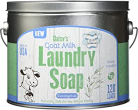 B&N All Natural Daisy's Goat Milk Powdered Soap Laundry Detergent, Eucalyptus Scent, 67.2 Ounces - 120 Loads