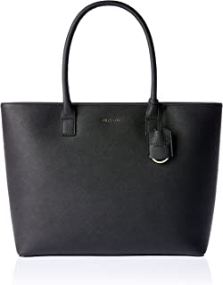 Oroton Women's Maison Worker Tote Bag, Black, Large