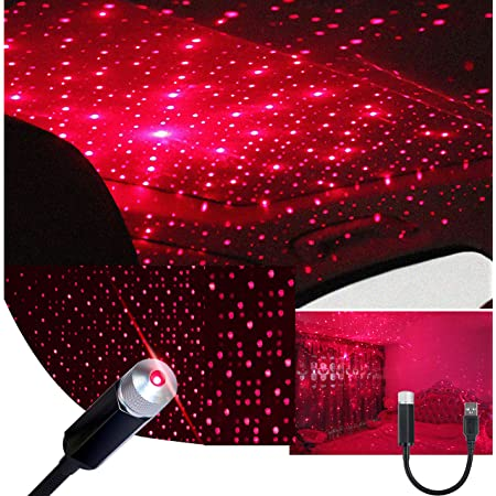 Garneck Auto Roof Star Projector Light Adjustable USB Flexible Romantic Galaxy Night Light Decoration for Cars Ceilings Bedrooms Party