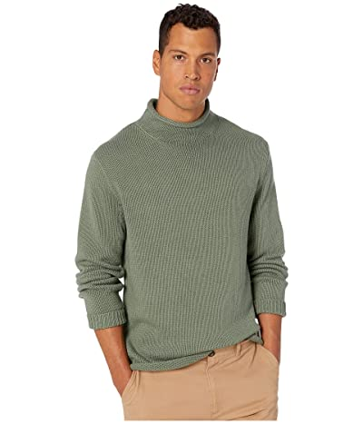J.Crew Unisex 1988 Cotton Rollneck Sweater (Baywood Green) Men