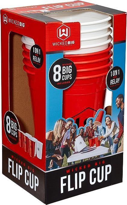 Wicked Big Sports Supersized Flip Cup Outdoor/Indoor Sport Tailgate Games