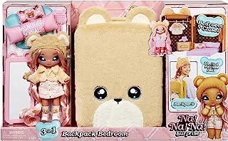 Na Na Na Surprise 3-in-1 Rugzak slaapkamer speelset SARAH SNUGGLES - Pluizige teddy berentas bevat Limited Edition zachte ...