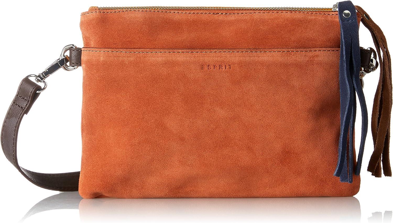 ESPRIT 087ea1o065, Women's Clutch, orange (Burnt orange), 1x18x25 cm (B x H T)