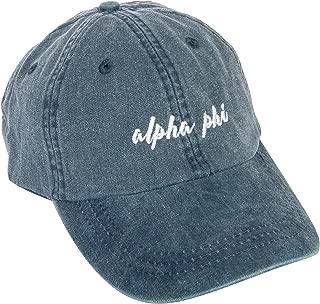 Desert Cactus Alpha Phi (N) Sorority Baseball Hat Cap Cursive Name Font A Phi