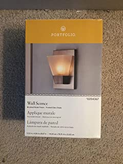 Portfolio 5.52-in W 1-Light Brushed Nickel Pocket Hardwired Wall Sconce