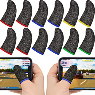 Zonon 40 Pieces Finger Sleeves for Gaming Mobile Game Controllers Finger Thumb Sleeves Set, Anti-Sweat Breathable Seamless...