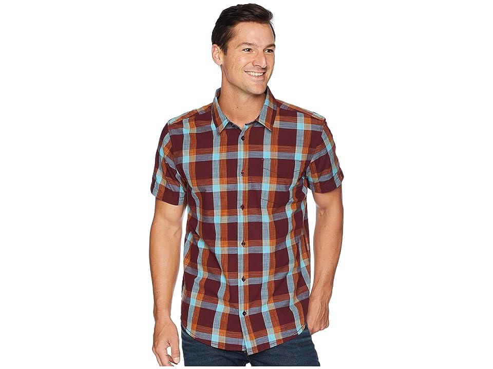 Prana Ecto Short Sleeve Shirt (Black Cherry) Men