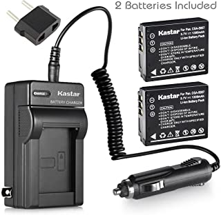 Kastar Battery (2-Pack) and Charger Kit for Panasonic Lumix CGA-S007 CGA-S007A CGA-S007A/1B CGA-S007E DMW-BCD10 DE-A25 DE-A26 & Lumix DMC-TZ1 DMC-TZ2 DMC-TZ3 DMC-TZ4 DMC-TZ5 DMC-TZ11 DMC-TZ15 DMC-TZ50