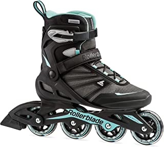 Rollerblade Zetrablade Women's Adult Fitness Inline Skate, Black and Light Blue,..