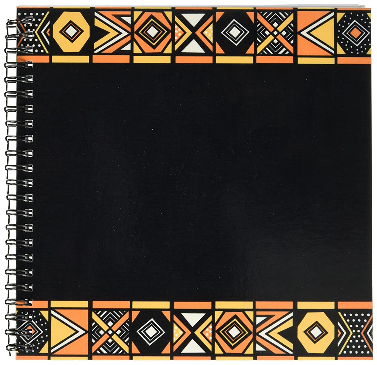 3dRose db_76554_1 Traditional African Pattern-Art of Africa Inspired by Zulu Beadwork Geometric Designs-Ethnic-Drawing Book, 8 by 8-Inch