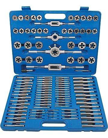 Maschi e filiera 6 pz in acciaio 5 misure ø 1.25 a 1.50 mm per metalli teneri