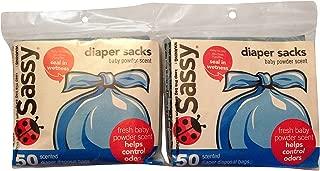 Sassy Diaper Sacks 50 Count (2 Pack)