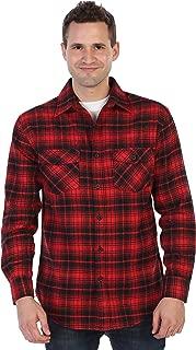 Gioberti Men's Plaid Checkered Brushed Flannel Shirt