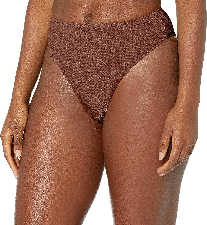 Seafolly Women's Rise High Cut Bikini Bottom Swimsuit