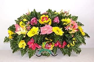 Beautiful XL Fall Mixture Cemetery Saddle Flower Arrangement …
