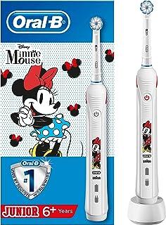 Oral-B Spazzolino Elettrico Ricaricabile Junior 1 Manico con Minnie, 1 Testina, per Età da 6 anni