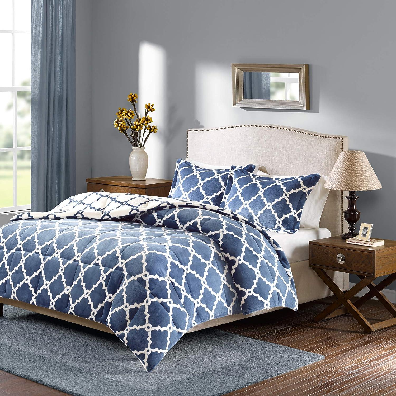 Ranking TOP1 Sleep Philosophy Peyton Reversible Fretwork Bedr Print At the price of surprise Set Plush
