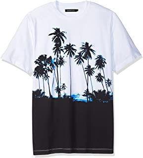 Bugatchi Men's Cotton Jersey Palm Print T-Shirt