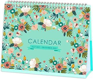 Desk Calendar 2021-2022 - Standing Flip Desktop Calendar, Generous Memo Lined Pages with Thick Paper, July 2021 - Dec 202...