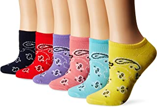 K. Bell Women's 6 Pack Novelty Crew Socks