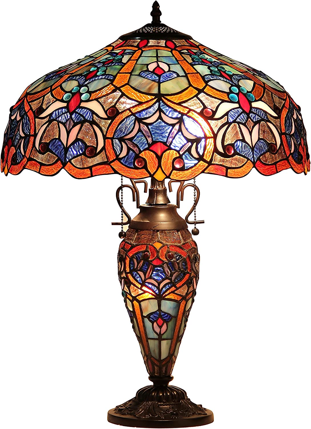 At the price of surprise Chloe Lighting CH33473BV18-DT3 Sadie 3-L Max 56% OFF Victorian Tiffany-Style