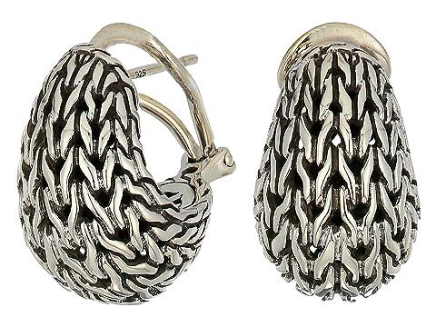 John Hardy Classic Chain Graduated Buddha Belly Earrings