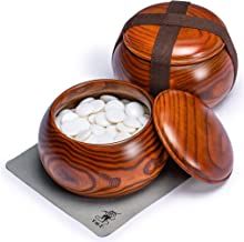 Yellow Mountain Imports Single Convex Melamine Go Stones, 21.5 to 22 Millimeters (Size 3), Includes Jujube Bowls