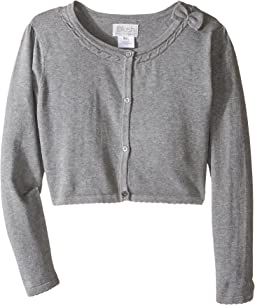 Us Angels - Bow w/ Scalloped Edge Cardigan (Big Kids)