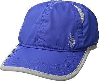 U.S. Polo Assn قبعة بيسبول للرجال النشيطين من البولي-نايلون شبكية، قبعة ممتصة للرطوبة