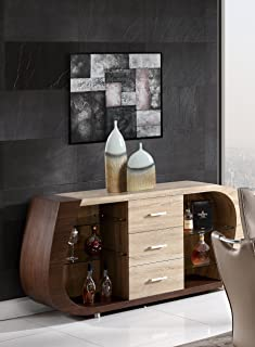 Global Furniture Buffet Oak, Walnut